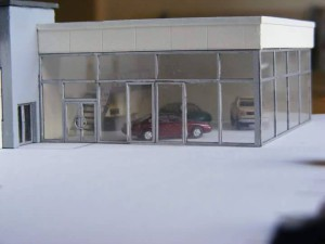 Bay Auto Parts >> N 003 Auto Dealership - N Scale Laser