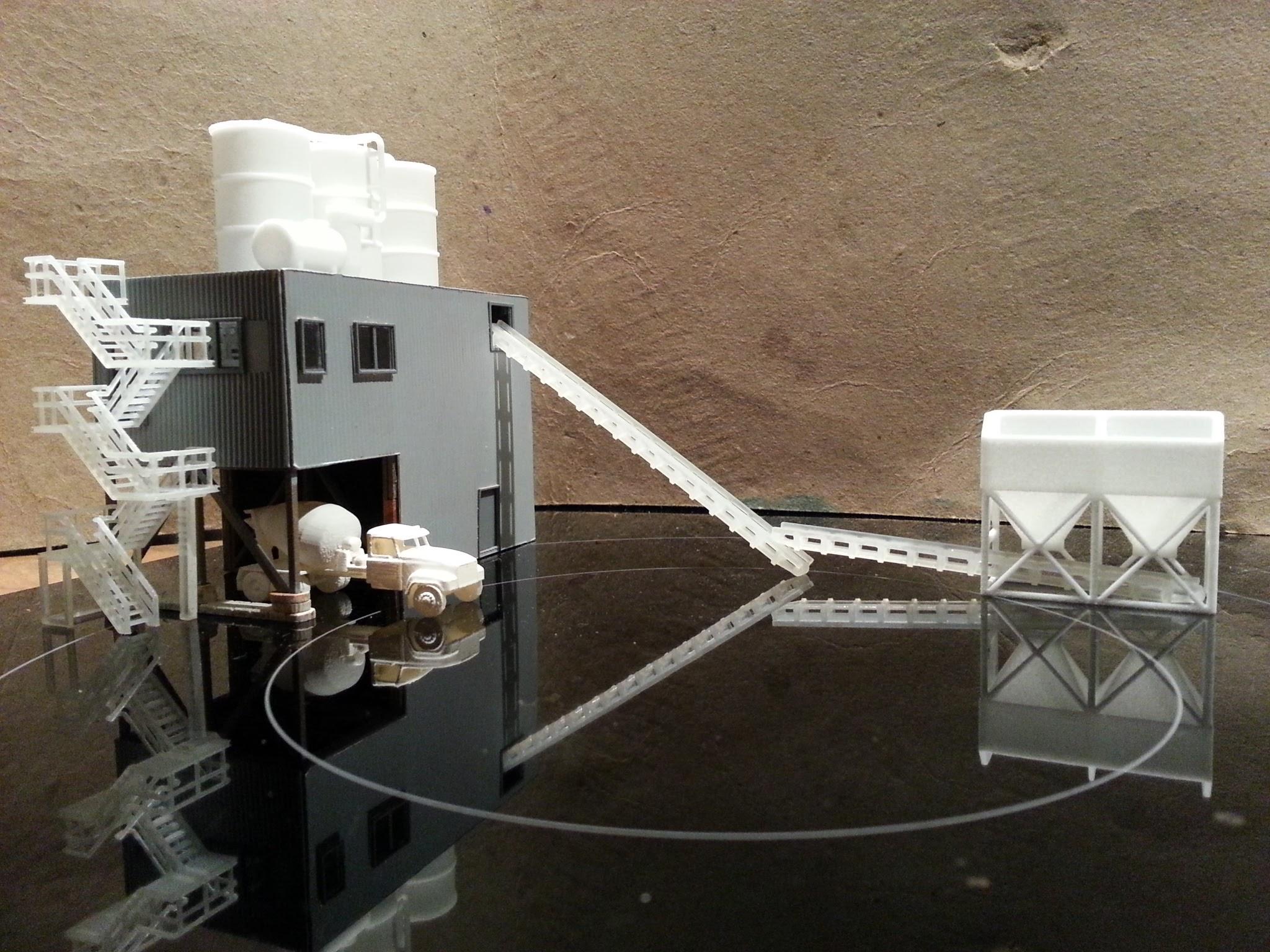 Cement Plant Parts : N b concrete plant with d printed parts scale laser